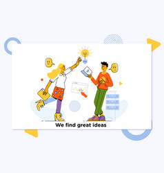 great ideas competitioninnovation brainstorming vector image