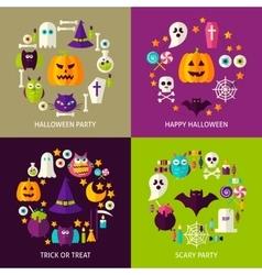 Happy Halloween Concepts Set vector
