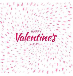 Heart confetti background of valentines petals vector