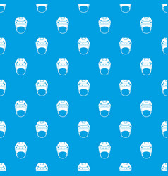 Hockey helmet pattern seamless blue vector