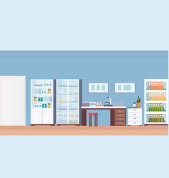 Hospital laboratory scientist workplace office vector