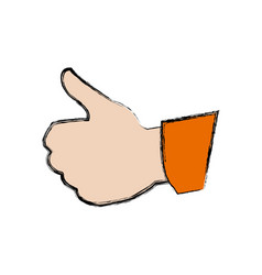 Human hand with thumb up like gesture vector