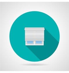 Jalousie window flat icon vector