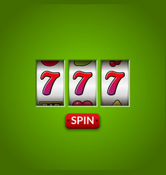 lucky seven 777 slot machine casino vegas game vector image