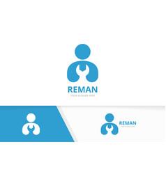 Man and repair logo combination people vector