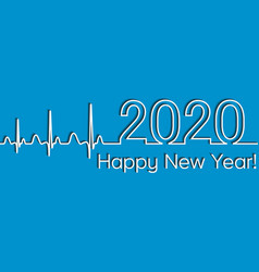 medical christmas fitness banner 2020 happy new vector image