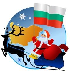 Merry Christmas Bulgaria vector image