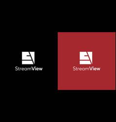 Modern and elegant sv letter initials logo 2 vector