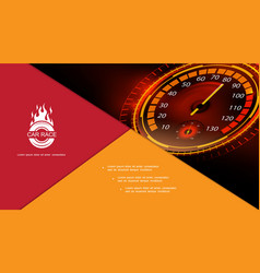 Modern car dashboard gauge composition vector