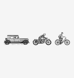motorcycle for biker club templates bicycle and vector image
