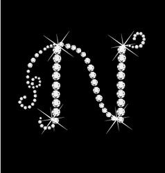 N letter vector image