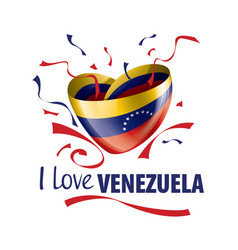 National flag venezuela in shape vector