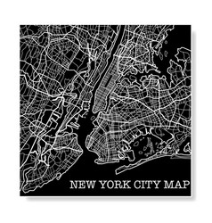 new york city black map vector image