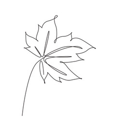 one continuous line drawing abstract tropic vector image