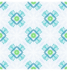Pattern with stylized flowers in thin lines vector