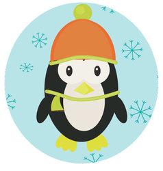 Penguin icon app mobile vector image