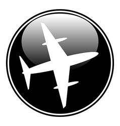 Plane button vector image
