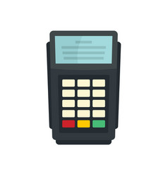 pos bank payment terminal icon flat style vector image