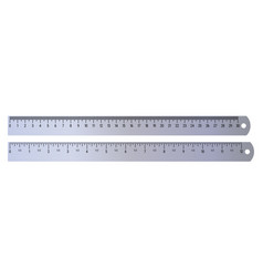 Realistic metal rulers 30 centimeters and 12 vector