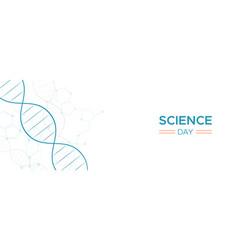 Science day web banner dna strand molecule vector