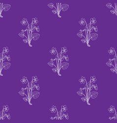 seamless pattern with blue violet vector image