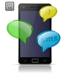 Sending and receiving sms messages vector