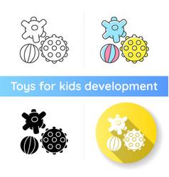 Sensory balls icon vector