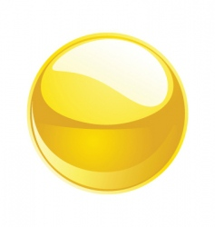 Shiny sphere 02 yellow vector