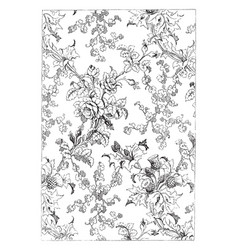 Silk fabric shows a pattern of rose also used vector