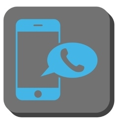Smartphone Call Balloon Rounded Square Button vector image