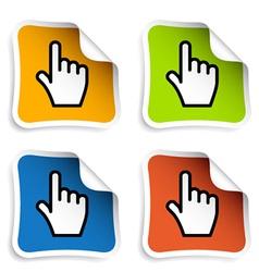 Smooth cursor hand stickers vector