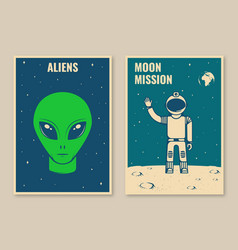 space mission posters banners flyers vector image
