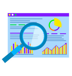 statistics and analytics graphic chart research vector image