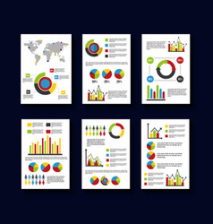 statistics data business report template style vector image