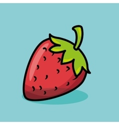 strawberry fresh fruit isolated icon vector image