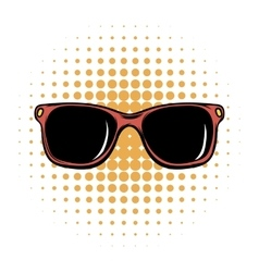 Sunglasses comics icon vector image