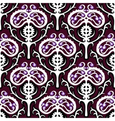 Suzani ethnic pattern with Kazakh motifs vector