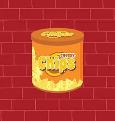 tasty potato chips snacks theme vector image