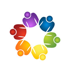 Teamwork group planning people logo vector