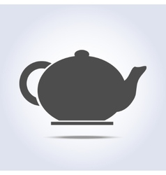Teapot icon in gray colors vector image