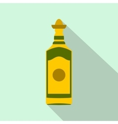 Tequila bottle icon flat style vector image