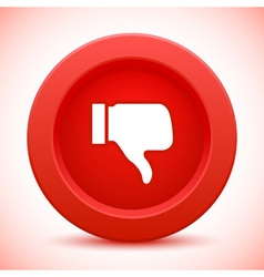 Thump up red button vector