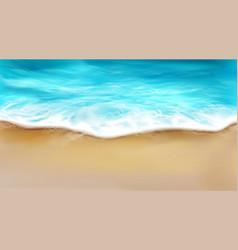 Top view sea wave with foam splashing on beach vector