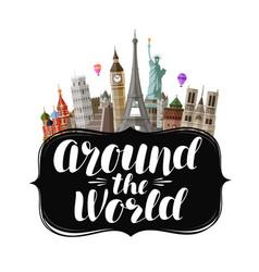 Travel journey concept around world vector