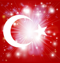 Turkish flag background vector