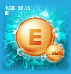 Vitamin e tocopherols vitamin gold oil vector
