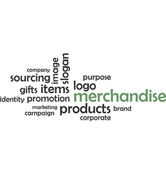word cloud merchandise vector image