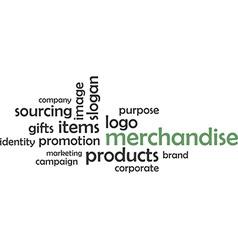 Word cloud merchandise vector