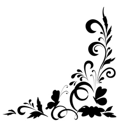 Abstract floral background silhouettes vector image vector image