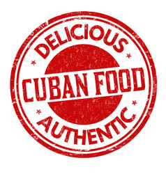 cuban cuisine grunge rubber stamp vector image